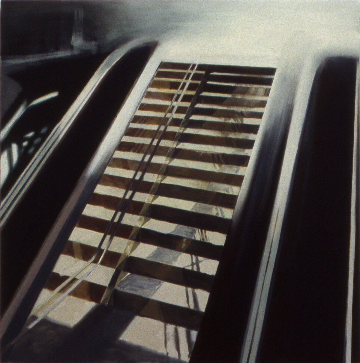 Mirrored escalator 1995