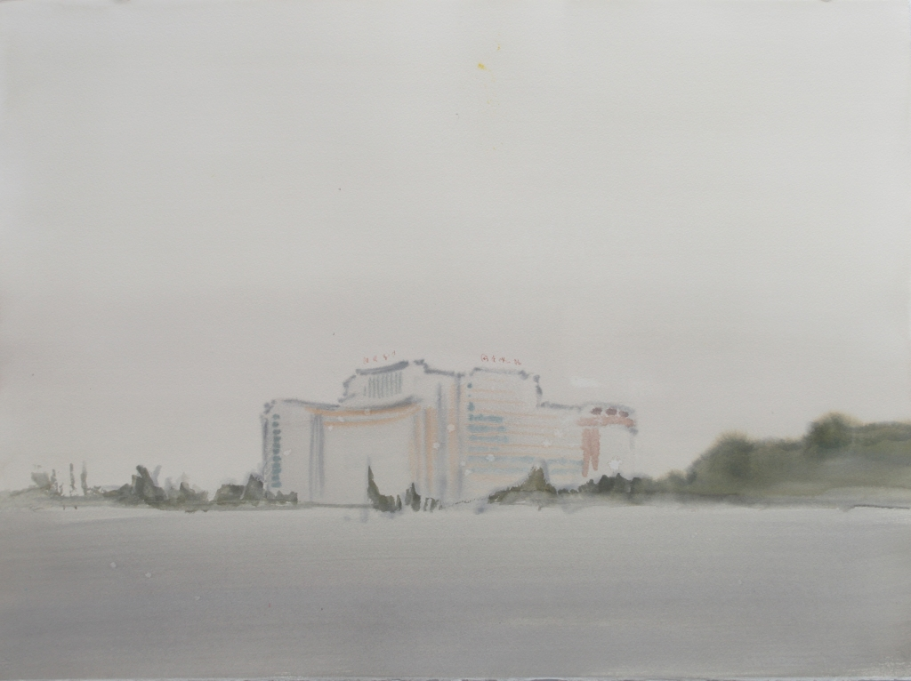 'Grey Office Building, Beijing' w:c 56x76 cm