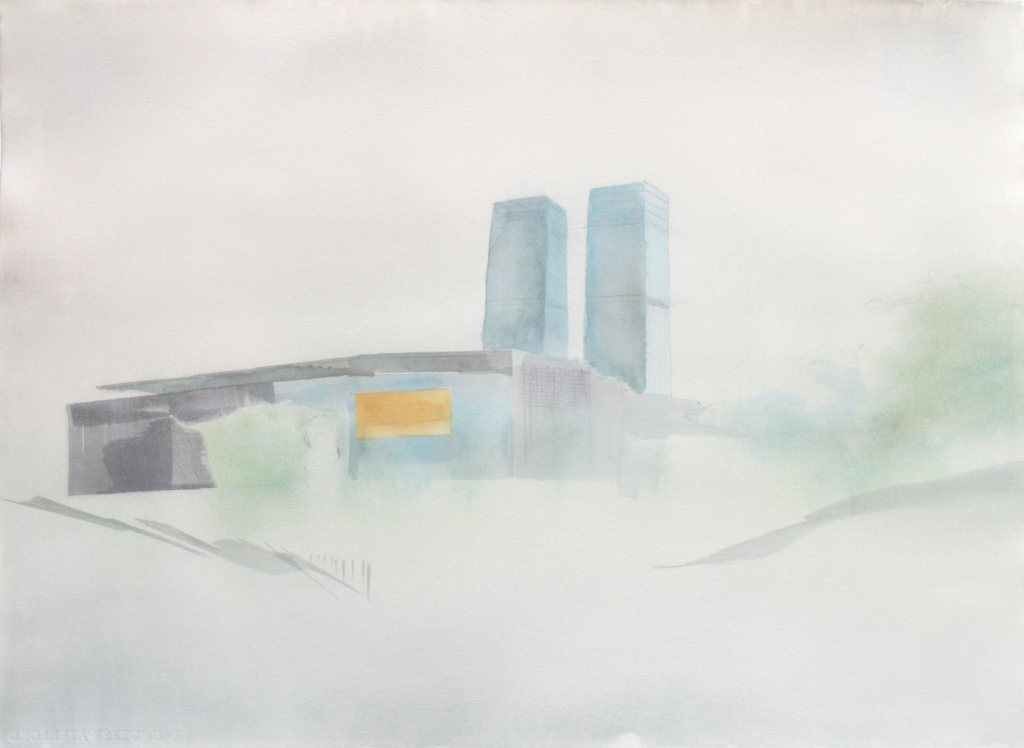 'Offices, Beijing' w:c 56x76 cm