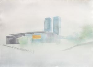 'Offices, Beijing' w:c 56x76 cm